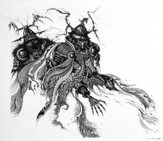 I have a book (The Tolkien Bestiary) which uses this image next to a section on 'Barrow Whites' rather than 'Ringwraiths'.  I love the complexity of Ian Miller's work.