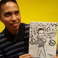Jose Bautista bat flip caricature