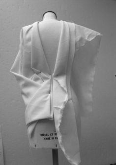 Draping on the stand - dress structure development - fashion design couture techniques; pattern making; garment construction // Ida Klamborn