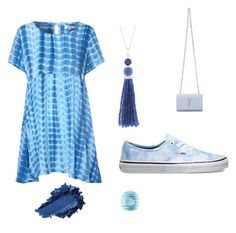 """Blue day"" by brookiea on Polyvore featuring beauty, Glamorous, Vans, Sharon Khazzam, Yves Saint Laurent and Eos"