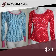 VICTORIA'S SECRET (2) PAJAMA TOPS Small THERMAL Lot of 2 Pajama Tops! Size Small. Victoria's Secret Intimates & Sleepwear Pajamas