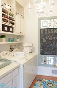 Small laundry room Makeover on a budget using what you have.
