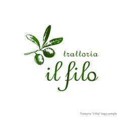 イタリアンレストラン(トラットリア)のロゴ作成依頼の依頼/外注|ロゴ作成の仕事 [ID:205573]