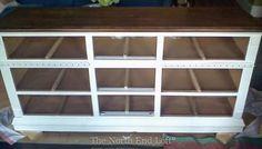 linen and dark walnut stain. Watch the thin top when sanding! The North End Loft: My Television Console