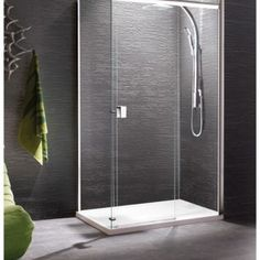Manhattan 8 Straight Slider Shower Door 1000mm with Optional Side Panel - M10S4625CC - Banyo
