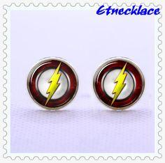 CufflinksFlash+Cufflinks+SHAZAM+Cufflinks+lightning+by+etnecklace,+$17.99