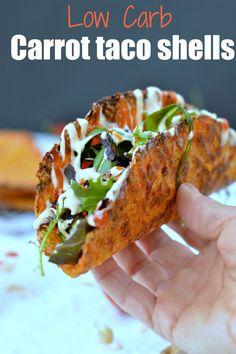 low carb carrot taco shells