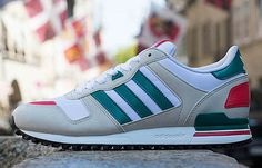 Preview: adidas ZX 700 | White, Teal & Red