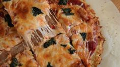 Enjoy your 'za! | Here's How To Make A Cheesy Cauliflower Pizza That's Actually Delicious