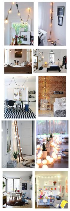 Decorating With Hanging Globe Lights Indoors | Indoor Light Decor | How To  Decorate With Hanging