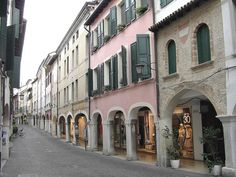a street in Pordenone, Friuli-Venezia Giulia region of Italy