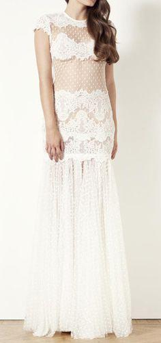 Sheer Dot Wedding Dress / ida sjostedt