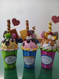 House Cake Ice Cream Party Foam Crafts Candy Jars Summer Crafts Creative Kids Holidays And Events Flower Art Sweets Candy Crafts, Diy Crafts For Gifts, Foam Crafts, Summer Crafts, Crafts For Kids, Creative Party Ideas, Creative Kids, Decoupage Jars, Birthday Party Games For Kids