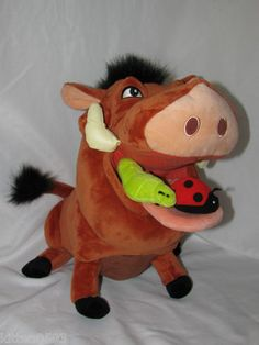 NWT New Pumba The Warthog with his Ladybug and Worm Disney Plush Toy $24.99