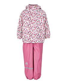Patterned Rain Gear Set: Pink Butterfly - Biddle and Bop Pink Butterfly, Butterflies, Rain Gear, Trousers, Pants, Rain Boot, Pattern, Jackets, Clothes