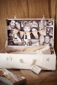 Inspiration pour un mariage vintage : la décoration / urne de mariage                                                                                                                                                                                 Plus