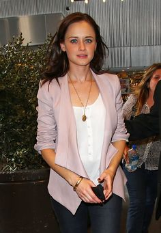 Alexis Bledel wearing a House of lavande locket