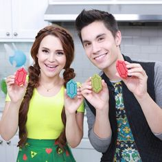 The Legend of Zelda Rupee Sugar Cookies Rosanna Pansino Nerdy Nummies, Thing 1, Special Guest, Legend Of Zelda, Cookie Decorating, Cookies, Watch, Cookie Cutters, Dishwasher