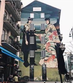 Gucci Art Wall in Milan, Italy, 2018