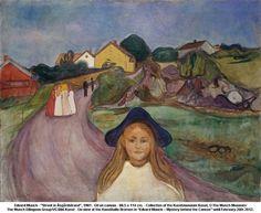 Edvard Munch, Street in Asgardstrand, 1901