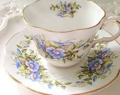 Image result for teacups with flower plants seed pattern art