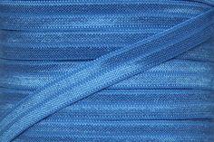 "Capri Blue 3/8"" Fold Over Elastic"