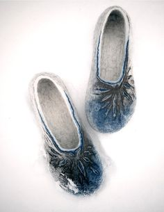 Felted slippers Frozen suns for Her by jurgaZa on Etsy, $70.00