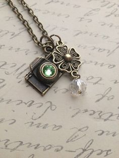 Snap Camera charm necklace with green by RedLanternDesigns on Etsy