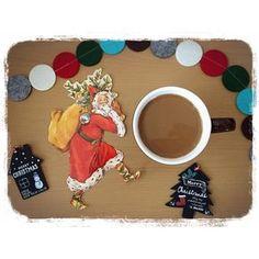 """11月9日 おはようございます(ˊᗜˋ*) ☕ やっとお休み 嬉しいねぇ‥‥( •̤ᴗ•̤ )❤️ 今日のコーヒー #コーヒー #珈琲 #coffee #カフェオレ #モーニングコーヒー #morningcoffee #コーヒータイム #coffeetime #くつろぎ中 #至福の時間 #コーヒー好き #コーヒー好きな人繋がりたい #クリスマス雑貨 #クリスマス #Christmas #サンタ #サンタクロース #フェルトガーランド #ガーランド #タグ #ツリー #クリスマスツリー #ハウス #朝 #おはよう #goodmorning コメントがうまく入っていかない‥‥ (๑¯ω¯๑)アレェ… 今日も楽しく頑張りましょ(*´∀`*)尸"""""""