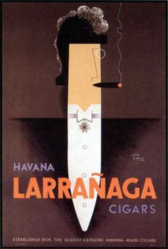 Havana Larrañaga cigars ad, 1929 // Jean Carlu (french illustrator)