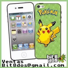 Case Pikachu de pokemon en #pixelart Te elaboramos cualquier diseño de videojuegos. Más información en bit8dos@gmail.com