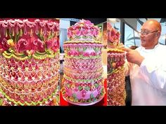 CAKE DECORATING ROYAL ICING STRING WORK OVER PIPING LAMBETH METHOD STYLE IN SPAIN - YouTube
