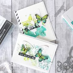 Crafty Little Peach: Stampin' Up! Butterfly Gala - Watercolor Butterfly Cards cards Stampin' Up! Wood Butterfly, Butterfly Watercolor, Butterfly Kit, Butterfly Birthday Cards, Butterfly Cards, Little Peach, Animal Cards, Stampin Up Cards, I Card