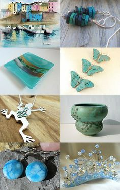 Trending....That Ocean Turquoise....imagine.....*sigh* by Tilly Shaw Beady Magpie Ceramics on Etsy--Pinned with TreasuryPin.com