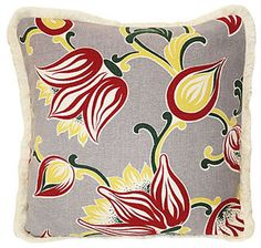 Nice use of vintage fabric for a new pillow.
