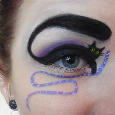Sport a feisty feline look this Halloween season. Go through our fantastic collection of quirky Halloween cat makeup ideas for the perfect cat look. Cat Halloween Makeup, Cat Eye Makeup, Eye Makeup Remover, Smokey Eye Makeup, Halloween Cat, Makeup Primer, Eye Cream For Dark Circles, Makeup Quotes, Makeup Pics