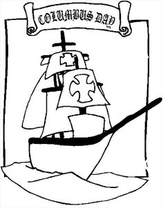 Columbus Day Coloring Pages Santa Maria Coloring Page – Classroom Jr ...