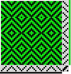 From Weave-Away blog: Four harness diamond twill pattern