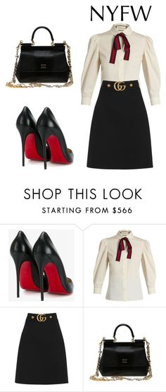 """Untitled #146"" by beso88 ❤ liked on Polyvore featuring Christian Louboutin, Gucci and Dolce&Gabbana"
