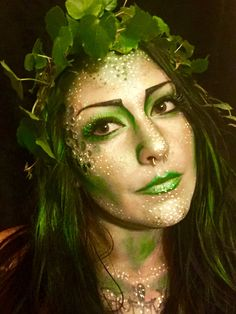 Plant Mother Nature elf fairy spring Halloween makeup cosplay                                                                                                                                                                                 More