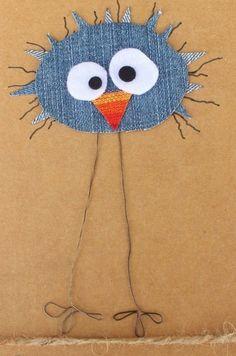 Cat Applique, Applique Dress, Applique Patterns, Knitting Patterns, Crafts To Make, Crafts For Kids, Craft Kids, Denim Crafts, Adult Crafts