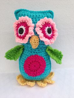 Crocheted owl Nursery Decor Baby Toy via Etsy