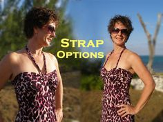 Easy Summer Dress.  Free multi-size pattern and step by step photo tutorial from So Sew Easy.