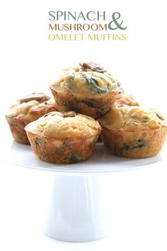 Easy Spinach & Mushroom Omelet Muffins