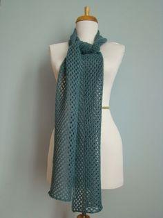 MES FAVORIS TRICOT-CROCHET: Modèle tricot gratuit : L'écharpe Misty Blue