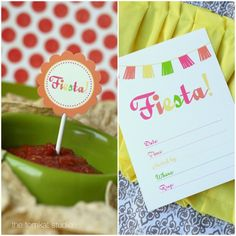 free printable fiesta invitation & party circles