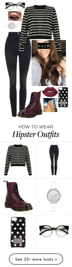 """Untitled #654"" by sorry-im-emmy on Polyvore featuring Topshop, TIBI, Dr. Martens, MICHAEL Michael Kors, Lime Crime and Skagen"