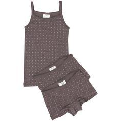 Girls Printed Underwear Dark Lilac / Wheat