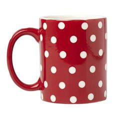 Polka Dot mugs...I currently own about 20 coffee mugs. Why not add another?