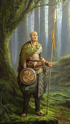 Celts spearman- by Roman Zawadzki High Fantasy, Fantasy Rpg, Medieval Fantasy, Celtic Fantasy Art, Dungeons And Dragons Characters, Dnd Characters, Fantasy Characters, Fantasy Character Design, Character Creation